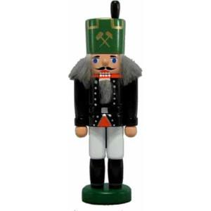 Miniatur - Nussknacker Bergmann grün/gold 15cm NEU