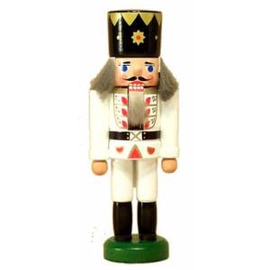Miniatur - Nussknacker König weiß 13cm NEU