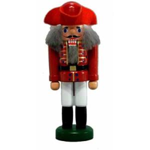 Miniatur - Nussknacker Korporal rot 13cm NEU