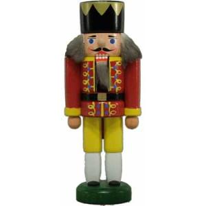 Miniatur - Nussknacker König rot/gelb 13cm NEU