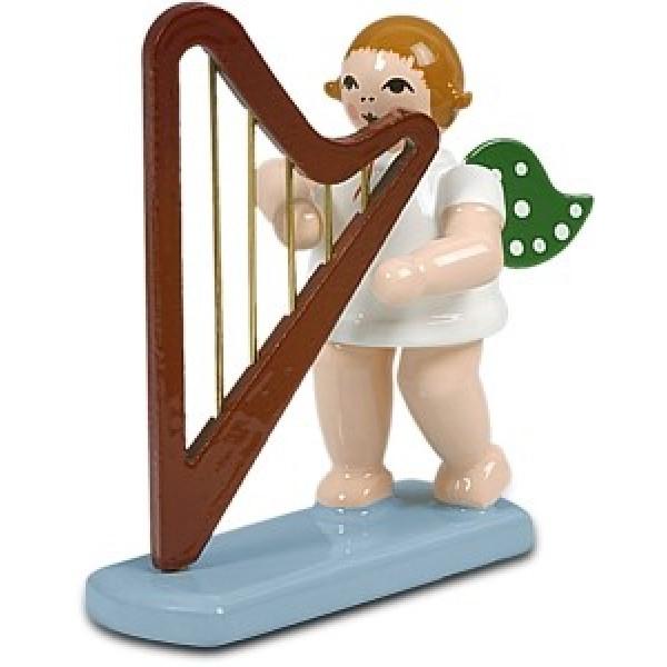 Engelmusikant Engel mit Harfe mit Krone Höhe ca 6 cm NEU