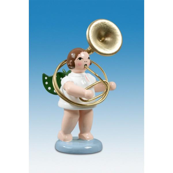 Engelmusikant Engel mit Sousaphon ohne Krone Höhe ca 6 cm NEU