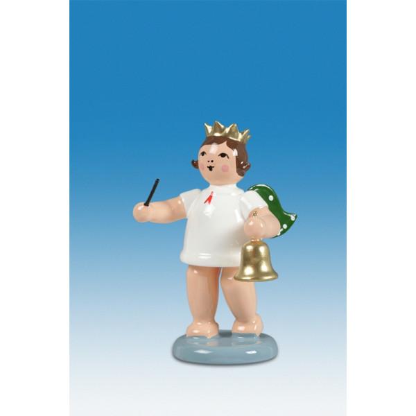 Engelfigur Adventengel mit Glocke ohne Krone Höhe ca 6 cm NEU