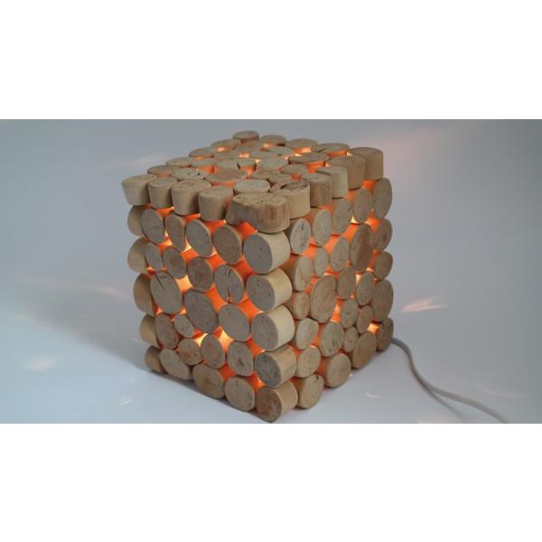 Stehlampe Quadrat aus Holz 15,5x16x18cm NEU