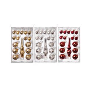 16-teiliges Miniset mit Spitze Gold/Silber/Rot 16 Stück/Box sortiert a 6 Stk. NEU