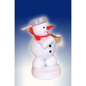 Weihnachtsdekoration Schneemann mit Tuba Höhe 8cm NEU