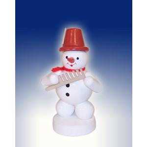 Weihnachtsdekoration Schneemann mit Kamm Höhe 8cm NEU