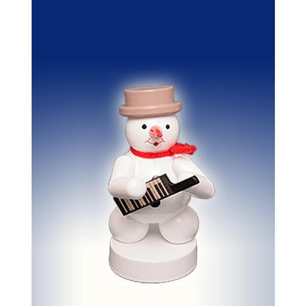 Weihnachtsdekoration Schneemann mit Keyboard Höhe 8cm NEU