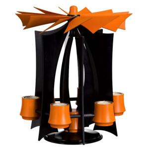 Weihnachtsdekoration Schwebepyramide Anthrazit Orange BxHxT 30,5x39x30,5cm NEU