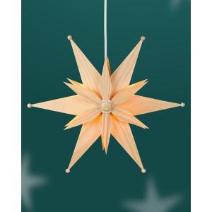Fensterschmuck Kieferstern doppelt el. Beleuchtet Mitte mit Stern BxHxT=32x32x10cm NEU