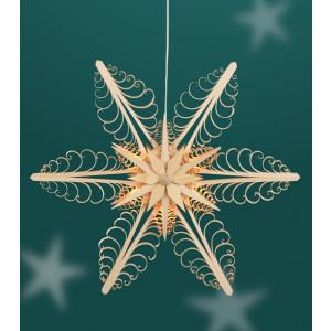 Fensterschmuck Spanstern el. Beleuchtet Mitte mit 2 Sterne (beidseitig) BxHxT=40x40x6cm NEU
