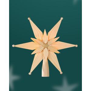 Baumschmuck Christbaumspitze el Bel doppelt aus Kiefernblätter Mittig Stern BxHxT=25x25x7cm NEU