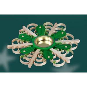 Tischschmuck Teelichthalter als Grüner Stern BxHxT=18x2,5x18cm NEU