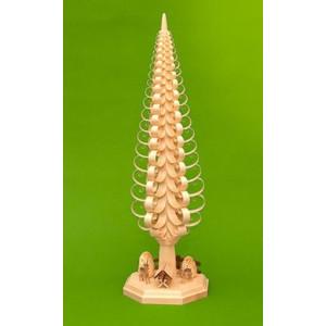 Tischdekoration Spanbaum mit Reh + Krippe + Bäume BxHxT 18,5x50x18,5cm NEU