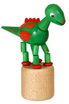 Wackeltier Wackelfigur Seiffen Erzgebirge Dinosaurier grün Spielzeug 105/024 NEU