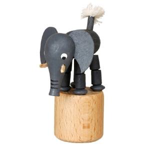 Wackeltier Elefant Wackelfigur Seiffen Erzgebirge Spielzeug 105/055 NEU