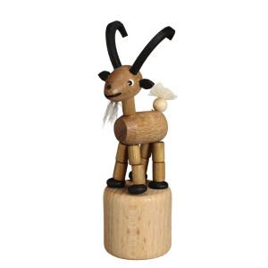 Wackeltier Steinbock Wackelfigur Seiffen Erzgebirge Spielzeug 105/068 NEU