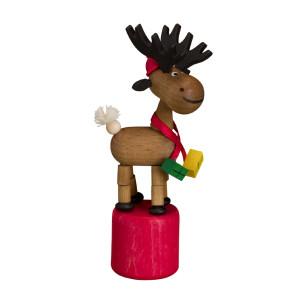 Wackeltier Weihnachtselch Wackelfigur Seiffen Erzgebirge Spielzeug 105/075 NEU