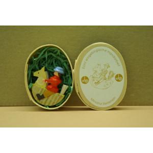 Miniatur, Reiterlein 4 cm Erzgebirge Seiffen NEU