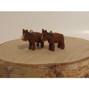 Ohrringe als Reifentier Pferde Höhe ca 2 cm NEU
