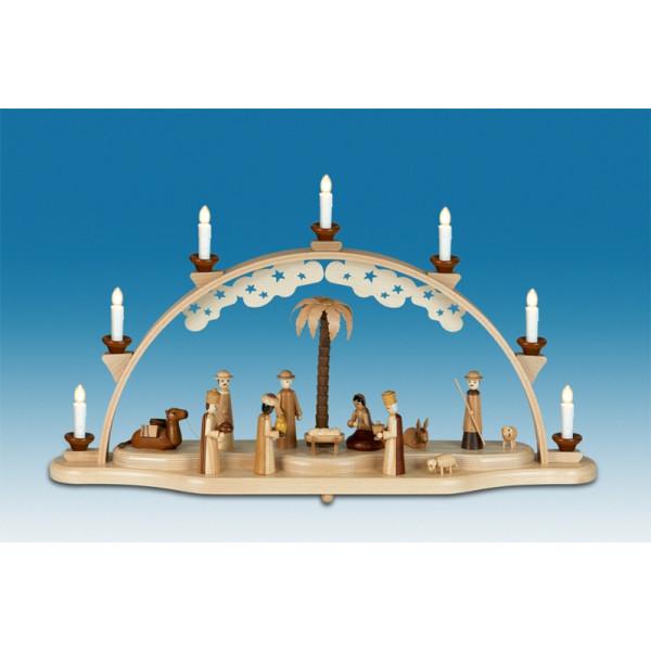 Schwibbogen mit Beleuchtung - Christi Geburt Breite ca 72 cm NEU