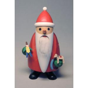 Nussknacker Langbart Santa mit Spielzeug Höhe ca 11 cm NEU