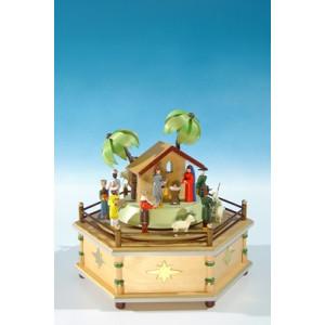 Spieldose mit Krippe, 28-stimmig Höhe ca 22 cm NEU