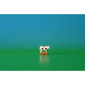 Miniatur Kuh auf Räder Höhe ca 2,5 cm NEU