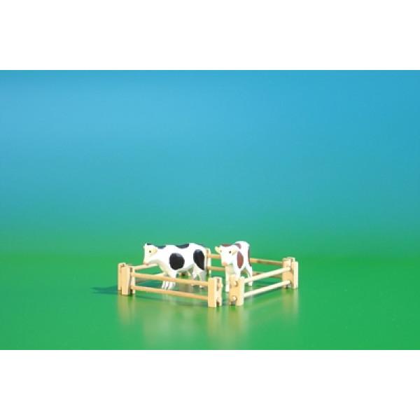 Reifentier Kuhweide in Miniatur, 6-teilig Tiergröße ca 3,0 cm NEU