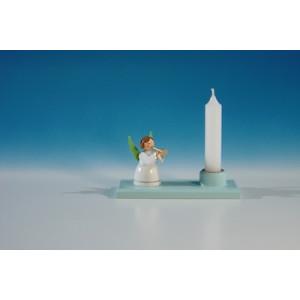 Kerzenhalter mit Trompeterengel Länge ca 10,5 cm NEU