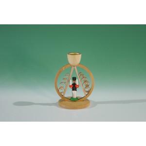 Kerzenhalter mit Mini.-Bergmann im Ring Höhe ca 7,5 cm NEU