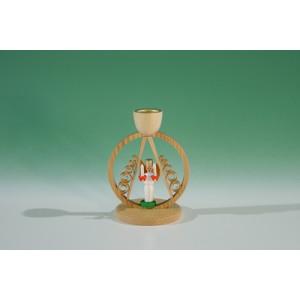 Kerzenhalter mit Mini.-Engel im Ring Höhe ca 7,5 cm NEU