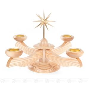 Adventsleuchter mit Stern, natur, für Teelichte Breite x Höhe x Tiefe 29 cmx25 cmx29 cm NEU