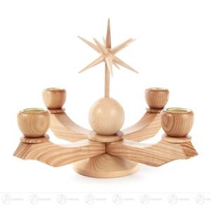 Adventsleuchter klein mit Stern, natur, für Kerzen d=20mm Höhe ca 19 cm NEU