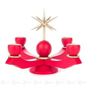 Adventsleuchter mit Stern, rot, für Kerzen d=20mm Breite x Höhe x Tiefe 19,5 cmx17 cmx19,5 cm NEU