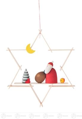 Baumschmuck Behang Weihnachtsmann Breite x Höhe x Tiefe 8,5 cmx9,5 cmx1 cm NEU