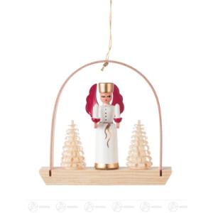 Baumschmuck Behang Engel mit Licht im Bogen Breite x Höhe x Tiefe 7 cmx6,5 cmx1,5 cm NEU