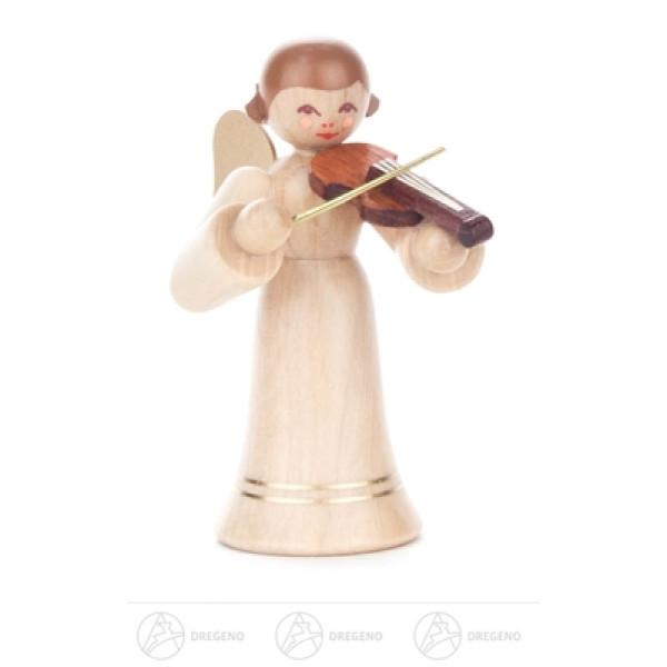 Engel mit Geige, langer Rock, natur Höhe ca 6 cm NEU