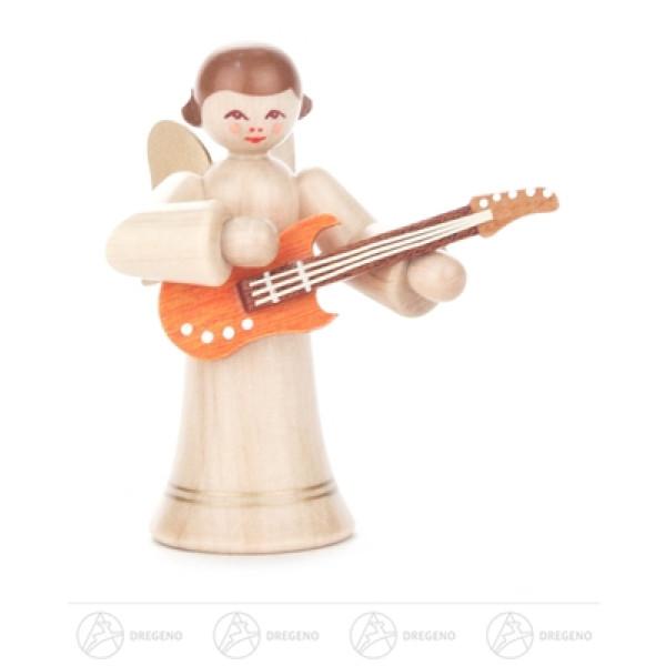 Engel mit E-Gitarre, langer Rock, natur Höhe ca 6 cm NEU