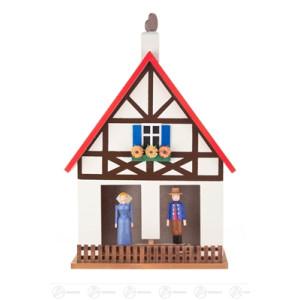 Haus Fachwerk-Wetterhaus Breite x Höhe x Tiefe 15,5 cmx22,5 cmx8,5 cm NEU