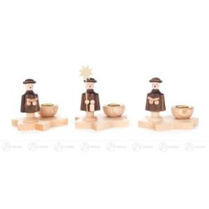 Kerzenhalter mit Kurrendefigur (3), für Kerze d=14mm Breite x Höhe x Tiefe 6,5 cmx6,5 cmx4,5 cm NEU