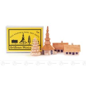 Miniatur Zündholzschachtel Seiffener Dorf Breite x Höhe ca 5,5 cmx4 cm NEU