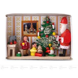 Miniatur Zündholzschachtel Kinderweihnachtsfeier Breite x Höhe ca 5,5 cmx4 cm NEU