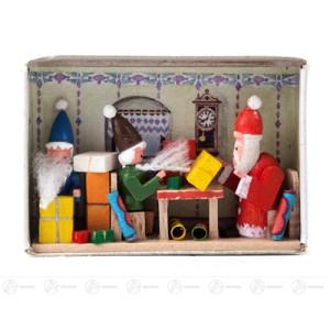 Miniatur Zündholzschachtel Weihnachtsüberraschung Breite x Höhe ca 5,5 cmx4 cm NEU