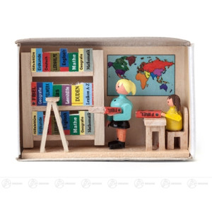 Miniatur Zündholzschachtel Bücherei Breite x Höhe ca 5,5 cmx4 cm NEU