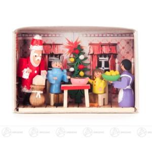 Miniatur Zündholzschachtel Weihnachten bei uns zu Hause Breite x Höhe ca 5,5 cmx4 cm NEU