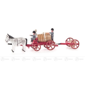 Miniatur Gespann Wasserwagen mit Rädertiere Höhe ca 4 cm NEU