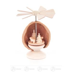 Miniatur Mini-Nusswärmespiel Schäferei Höhe ca 5,5 cm NEU