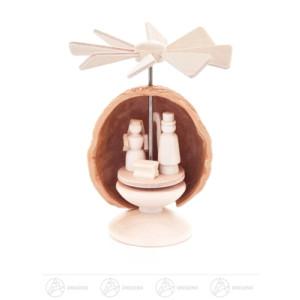 Miniatur Mini-Nusswärmespiel Christi Geburt Höhe ca 5,5 cm NEU
