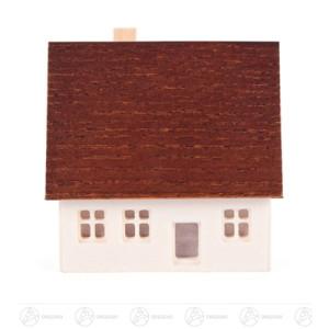 Miniatur Erzgebirgshaus einfach mit ausgefrästen Fenstern Breite x Höhe x Tiefe 5,5 cmx5,5 cmx3,5 cm NEU